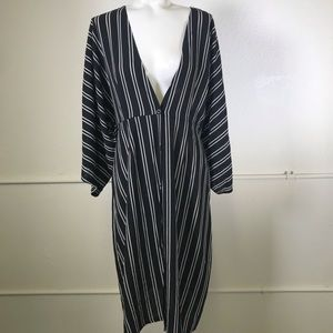 Blu Pepper Kimono Sleeve Striped Dress